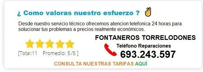 fontanero Torrelodones precio
