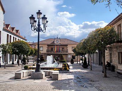 Ayuntamiento en la localidad de Torrelodones